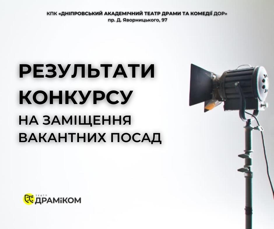 Результати конкурсу на заміщення вакантних посад 03.11.20р.